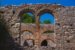 Antyczny miasteczko Butrint, Buthrotum - turystyczny przyciąganie w Albania zdjęcie stock