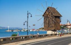 Antyczny miasteczko Nesebar, Bułgaria Czarny denny wybrzeże Obraz Royalty Free
