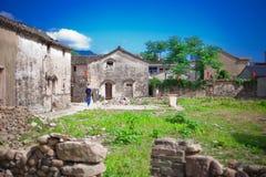 Antyczny miasteczko wymieniał Tongli w Ningbo Chiny zdjęcia stock