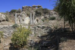 Antyczny miasto Biblijny Ashkelon w Izrael Obrazy Stock