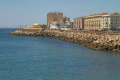 Antyczny miasto Cadiz na Hiszpańskim Atlantyk wybrzeżu w Andalusia Fotografia Stock