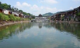 Antyczny miasto Fenghuang, prowincja hunan, Chiny Zdjęcia Royalty Free