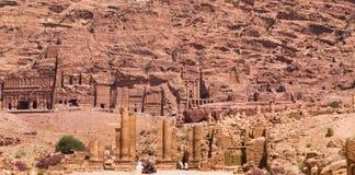 Antyczny miasto Petra, Jordania Obraz Stock