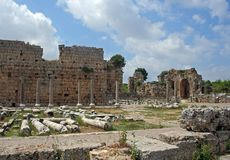 antyczny miasto rzymskim zostaje Fotografia Stock