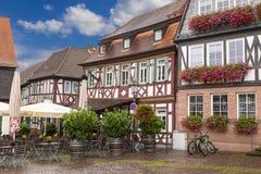 Antyczny miasto Selingenstadt, Niemcy, rynek Obraz Stock