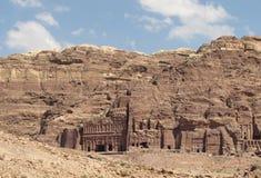 Antyczny miasto w skale, ruiny Zdjęcie Royalty Free