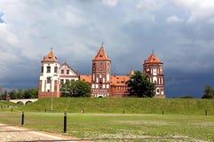 Antyczny Mir kasztelu kompleks w Białoruś Obrazy Royalty Free