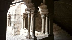 Antyczny monaster w centrum Barcelona Obraz Royalty Free