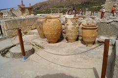 Antyczny naczynia Knossos pałac Crete Grecja Obraz Stock