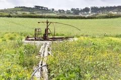 Antyczny ośniedziały watermill w wsi Obraz Royalty Free