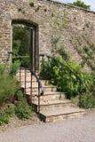 Antyczny Ogrodowy schody zdjęcie stock