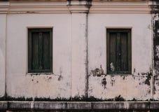Antyczny okno i ściana Phi Obsługujemy Phet Ma brzęczenia Suan Hall Fotografia Royalty Free