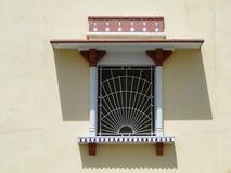 Antyczny okno z orientalnym ornamentem w Jaipur zdjęcie stock