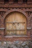 Antyczny orientalny drzwi w racati kasztelu fotografia royalty free
