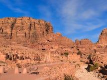 Antyczny Petra ruin krajobraz Zdjęcia Royalty Free