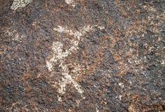 Antyczny petroglif na kamieniu Zdjęcie Royalty Free