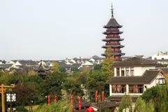 antyczny porcelanowy chiński pagodowy ruigang Suzhou Fotografia Stock
