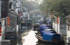 antyczny porcelanowy turystyki miasteczka wody zhouzhuang Zdjęcia Stock