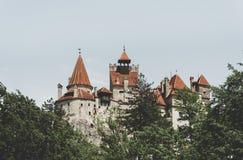Antyczny przerażający grodowy otręby Przestrzegający Dracula w Transylvania, Rumunia obraz royalty free