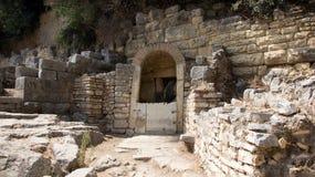 Antyczny przy archeological miejscem Butrint w Albania dobrze Zdjęcia Stock