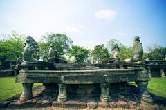 Antyczny przy Phimai Dziejowym parkiem, Tajlandia Obrazy Stock