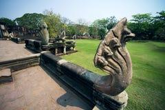 Antyczny przy Phimai Dziejowym parkiem, Tajlandia Obraz Royalty Free