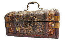antyczny pudełkowaty drewniany fotografia stock