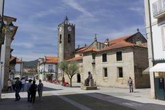 Antyczny Romański kościół Ponte de Lima Zdjęcia Stock
