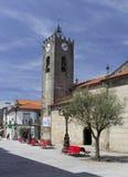 Antyczny Romański kościół Ponte de Lima Zdjęcia Royalty Free