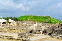 Antyczny Romański miasto zakład Shean fotografia stock