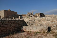 Antyczny Romański miasto Dugga, Tunezja Zdjęcie Stock