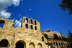 Antyczny Romański teatr Ateny, Grecja Fotografia Stock