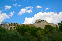 Antyczny Romański teatr w Ateny Grecja Obrazy Royalty Free