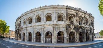 Antyczny Romański Theatre Nimes (arena) Obraz Stock
