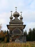 Antyczny rosyjski drewniany kościół Fotografia Royalty Free