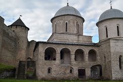 antyczny Rosyjski forteca w Ivangorod Zdjęcie Stock