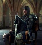 Antyczny rycerz w metalu opancerzeniu zdjęcie royalty free