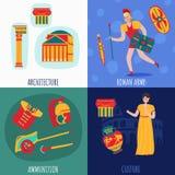 Antyczny Rzym projekta pojęcie royalty ilustracja