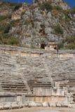 Antyczny rzymianina teatr w Lycian mieście Zdjęcia Royalty Free
