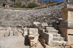 Antyczny rzymianina teatr w Lycian mieście Zdjęcie Stock