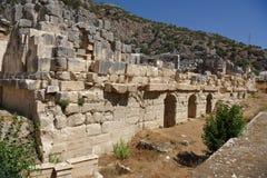 Antyczny rzymianina teatr w Lycian mieście Fotografia Royalty Free