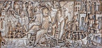 Antyczny rzymski architectonic szczegół Zdjęcia Royalty Free
