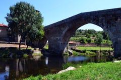 Antyczny rzymski bridżowy Portugalia Obrazy Royalty Free