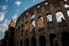 Antyczny rzymski Colosseum szczegół w Rzym, Włochy fotografia royalty free