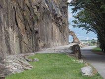 Antyczny rzymski droga łuk w Donnas obrazy stock