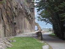 Antyczny rzymski droga łuk w Donnas zdjęcie stock