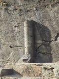 Antyczny rzymski drogowy kamień milowy w Donnas zdjęcie royalty free