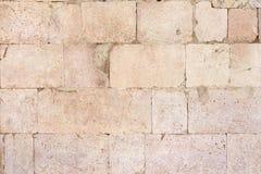 Antyczny rzymski kamiennej ściany tło zdjęcia royalty free