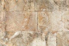 Antyczny rzymski kamiennej ściany tło fotografia stock