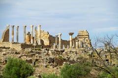 Antyczny rzymski miasteczko, świątynne kolumn ruiny Obraz Stock